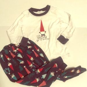 Gymboree holiday pj set with gnomes toddler boy 2T